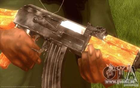 Kalashnikov HD pour GTA San Andreas deuxième écran