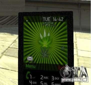 Ganja PhoneCell Theme v2 pour GTA 4