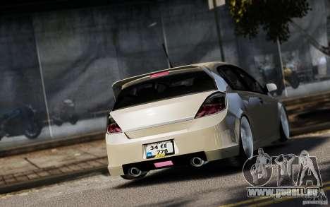Opel Astra pour GTA 4 est une vue de l'intérieur