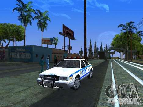 Ford Crown Victoria 2009 New York Police für GTA San Andreas