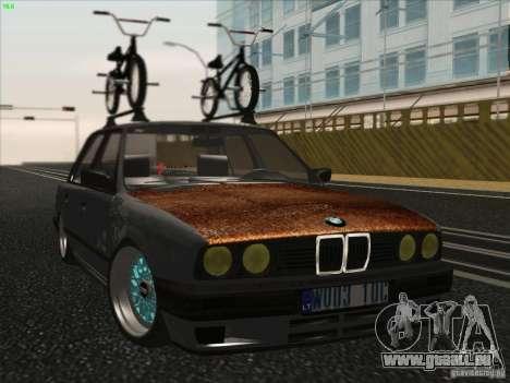 BMW E30 Rat für GTA San Andreas zurück linke Ansicht