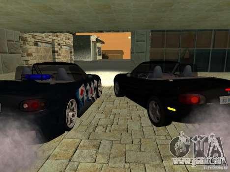 Mazda MX5 Miata pour GTA San Andreas sur la vue arrière gauche