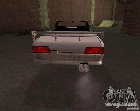 Taxi Cabrio pour GTA San Andreas sur la vue arrière gauche