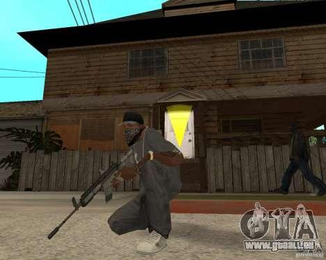 M4A1 avec vue kolliminotarnym. pour GTA San Andreas troisième écran