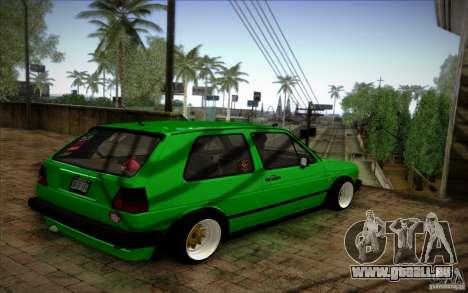 VW Golf MK2 Stanced pour GTA San Andreas sur la vue arrière gauche