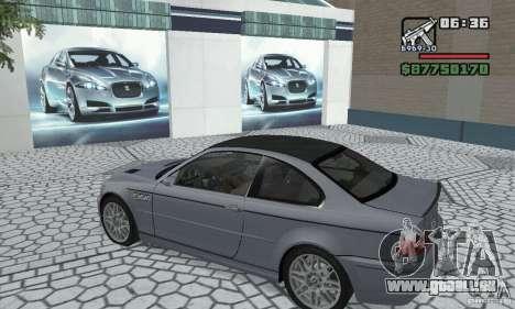 BMW M3 Tunable pour GTA San Andreas vue arrière