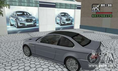 BMW M3 Tunable für GTA San Andreas Rückansicht