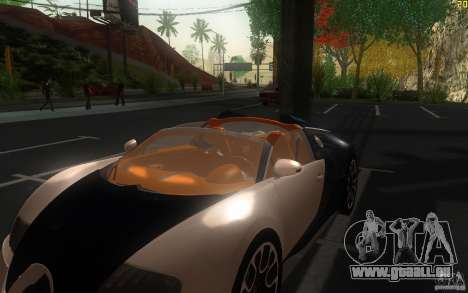 Bugatti Veyron 16.4 Grand Sport Sang Bleu pour GTA San Andreas vue intérieure