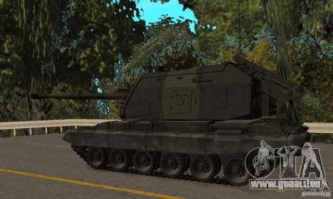 Msta-s 2s19, version hiver pour GTA San Andreas sur la vue arrière gauche