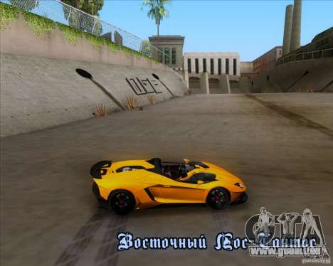 Lamborghini Aventador J TT Black Revel pour GTA San Andreas salon