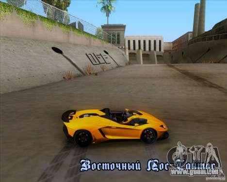 Lamborghini Aventador J TT Black Revel für GTA San Andreas Innen
