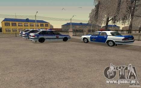 Vaz 2114 PSB Police pour GTA San Andreas sur la vue arrière gauche