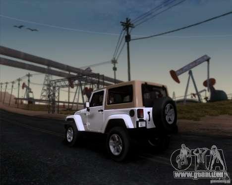 Jeep Wrangler Rubicon für GTA San Andreas linke Ansicht