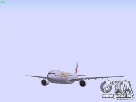 Airbus A330-200 Emirates pour GTA San Andreas vue de dessous