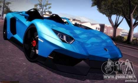 Lamborghini Aventador J für GTA San Andreas Innenansicht