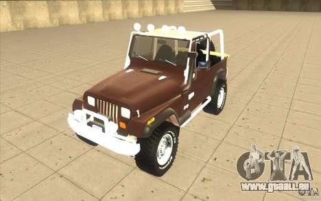 Jeep Wrangler 1986(2) pour GTA San Andreas laissé vue