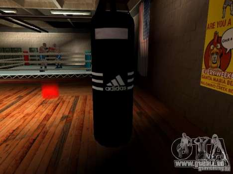 Nouveau sac de boxe boxe pour GTA San Andreas cinquième écran