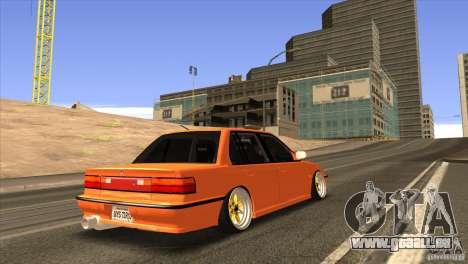 Honda Civic EF9 Sedan pour GTA San Andreas vue arrière