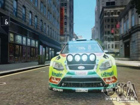 Ford Focus RS WRC für GTA 4 Rückansicht
