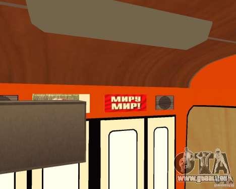LIAZ-677 (moment de Café) pour GTA San Andreas vue intérieure
