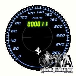 Tachometer IV (11 Skins) für GTA 4