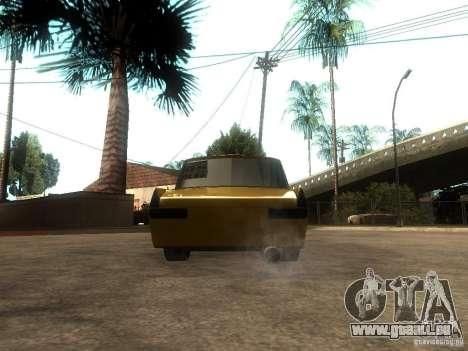 Moskvitch 412 Tuning pour GTA San Andreas sur la vue arrière gauche