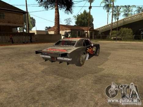 Chevrolet Camaro SS Dragger für GTA San Andreas zurück linke Ansicht
