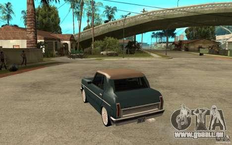 Perenial Coupe pour GTA San Andreas sur la vue arrière gauche