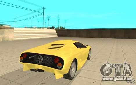 Infernus de GTA 4 pour GTA San Andreas sur la vue arrière gauche