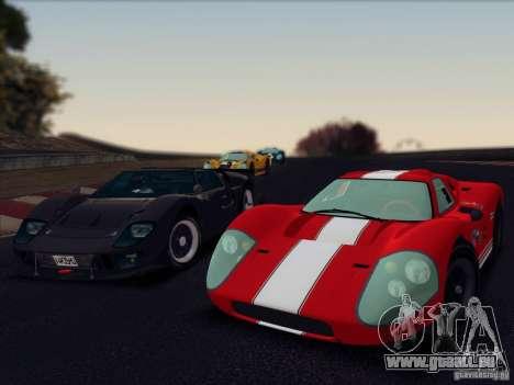 Ford GT40 MK IV 1967 pour GTA San Andreas vue arrière