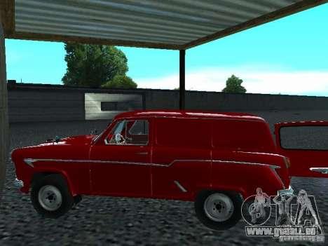 Moskvich 430 pour GTA San Andreas sur la vue arrière gauche