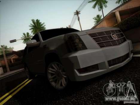 Cadillac Escalade ESV Platinum pour GTA San Andreas laissé vue