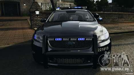 Ford Taurus 2010 Atlanta Police [ELS] pour GTA 4 est une vue de dessous