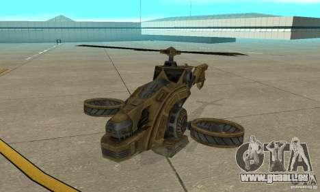 Un hélicoptère de la jeu Brown de TimeShift pour GTA San Andreas laissé vue