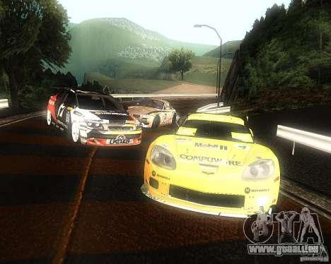 Chevrolet Corvette Drift pour GTA San Andreas vue intérieure