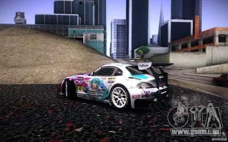 BMW Z4 E89 GT3 2010 pour GTA San Andreas salon
