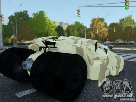 HQ Batman Tumbler für GTA 4 linke Ansicht