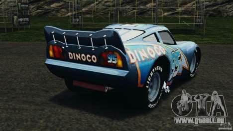 Lightning McQueen Dinoco pour GTA 4 Vue arrière de la gauche