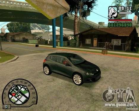 Volswagen Scirocco pour GTA San Andreas sur la vue arrière gauche