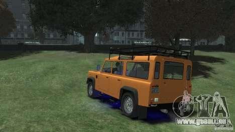 Land Rover Defender Station Wagon 110 für GTA 4 linke Ansicht