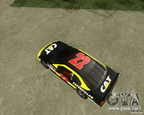 Dodge Nascar Caterpillar für GTA San Andreas rechten Ansicht