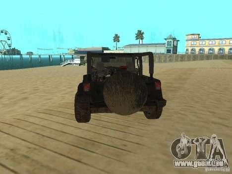 Jeep Wrangler SE pour GTA San Andreas sur la vue arrière gauche