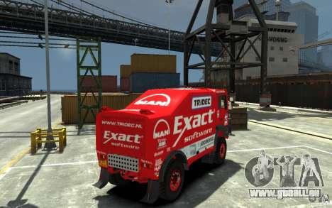 MAN TGA Rally Truck für GTA 4 rechte Ansicht
