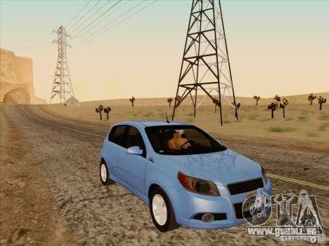Chevrolet Aveo LT für GTA San Andreas Rückansicht