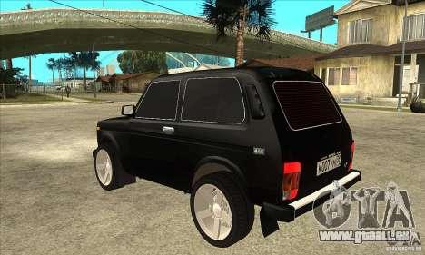 VAZ 21213 NIVA teinté pour GTA San Andreas sur la vue arrière gauche