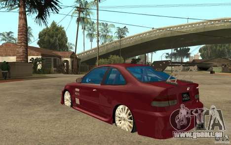 Honda Civic 1998 Tuned für GTA San Andreas zurück linke Ansicht