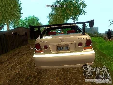 Lexus IS300 Drift pour GTA San Andreas sur la vue arrière gauche
