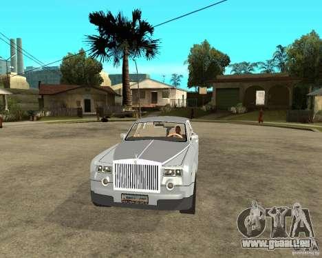 Rolls-Royce Phantom (2003) pour GTA San Andreas vue arrière