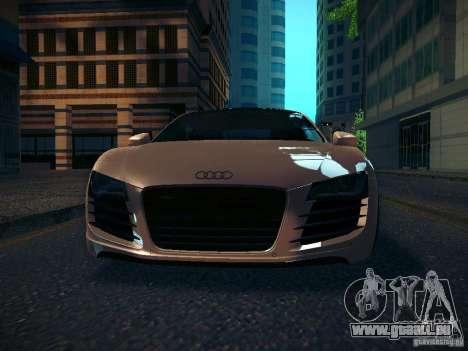 Audi R8 V10 pour GTA San Andreas vue intérieure