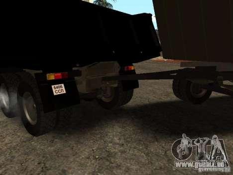 GKB 8350 à plat pour GTA San Andreas vue de droite